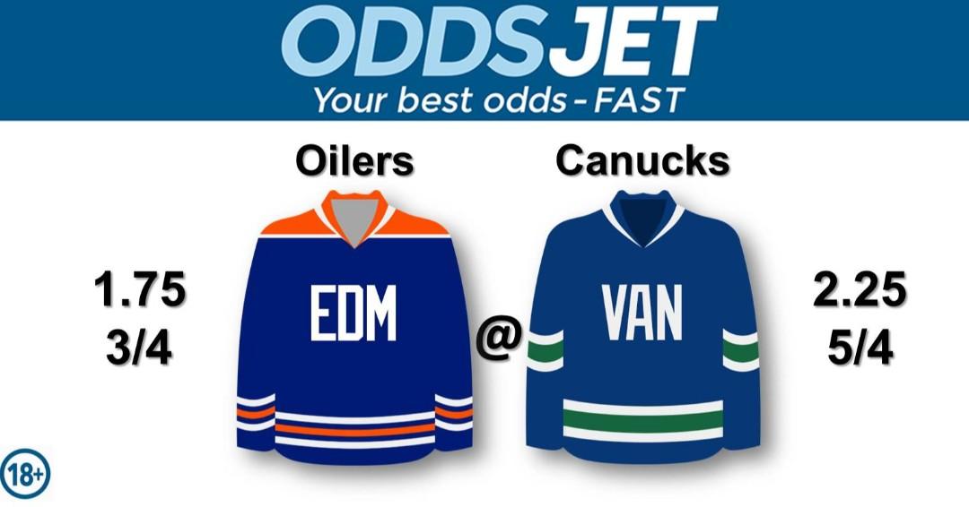 #NHL, #HockeyIsBack,   #Oilers, #LetsGoOilers, #EdmontonOilers, vs. #VanCanucks, #GoCanucks, #Canucks, #VancouverCanucks, Get your best odds - fast at