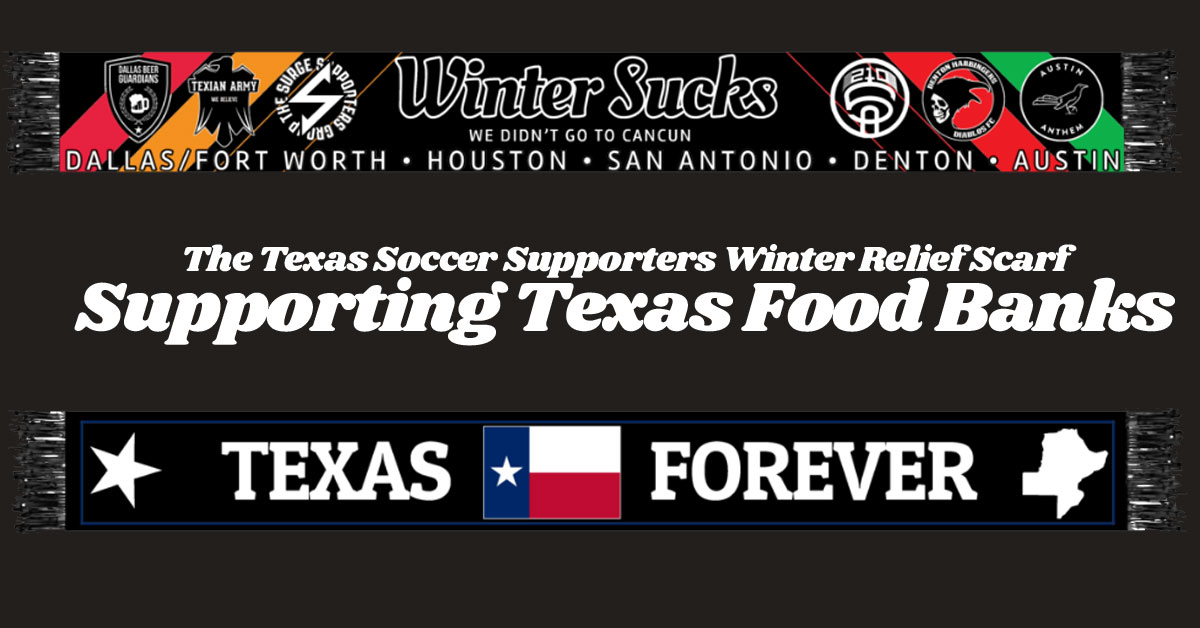 Shout out to @AustinAnthem for putting this together. @210Alliance always loves partnering with other groups to support our fellow Texans.  Proceeds from these scarves will go towards the regional food banks.