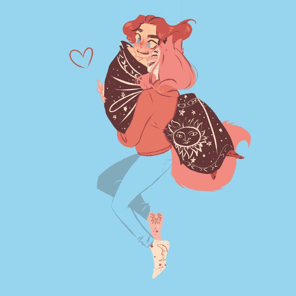 OwO 🎀 If someone steals me in this life, it will look exactly like this.  💕✨🌠🍭  Customer: @Candy__Dude Author: @gun_kobain  Tags: #love #cute #girl #boy #digitalart #art #drawing #pinkguy #guy #pinkhair #hugs #милота #девочка #мальчик #диджиталарт #арт #рисунок #обнимашки