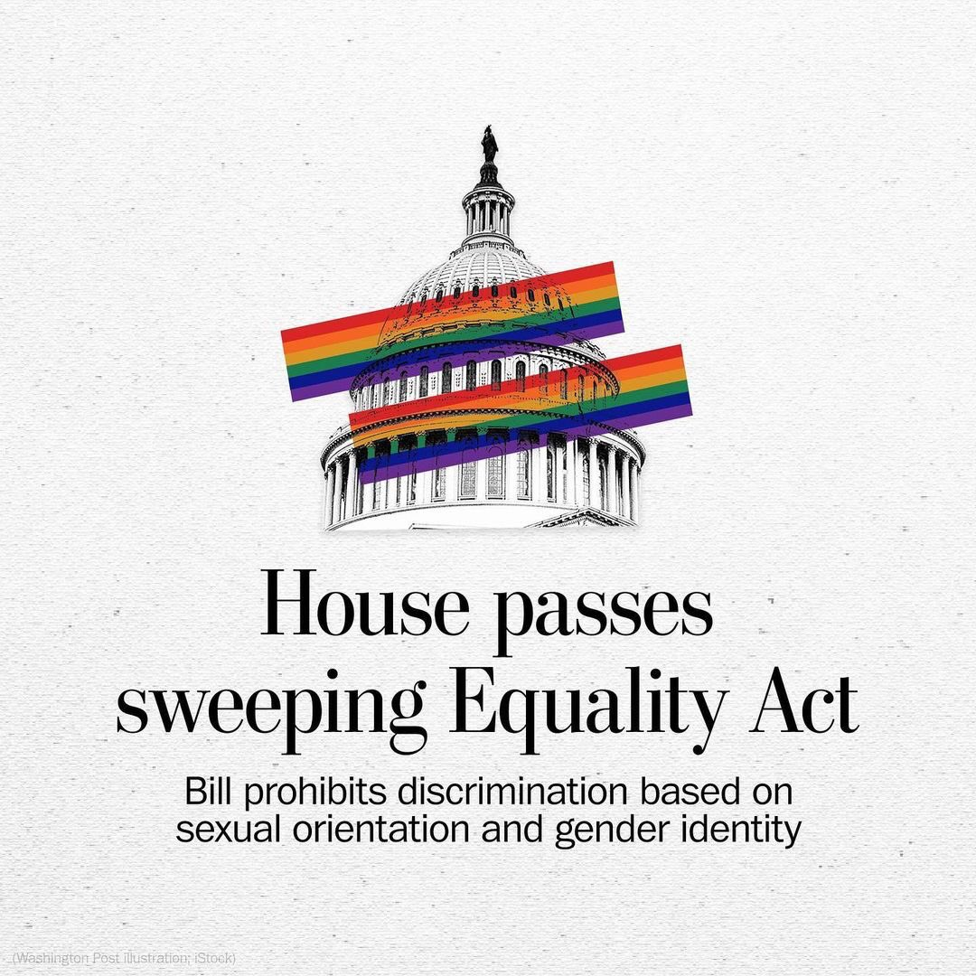 YES YES YES 🏳️🌈💖🏳️⚧️ This is an incredible step forward but now we need our Senate to follow suit!! Follow @HRC @glaad @ACLU for updates and info on the Equality Act