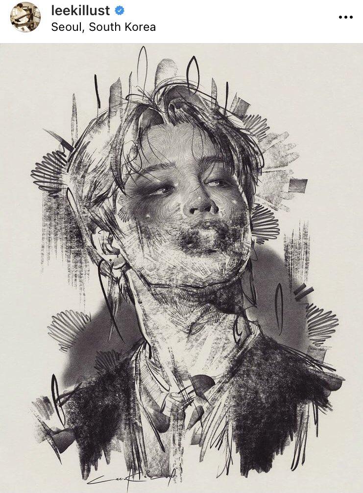 I love his work❤️ He's so talented ‼︎  #지민 #JIMIN #WeLoveYouJimin #Parkjimin #ThankYouJimin #leekillust