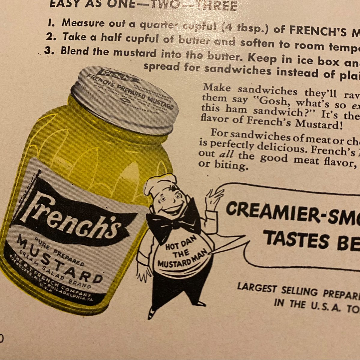 looking through magazines from 1942 and between all the crippling anxiety over ww2 and the blatant racism i found hot dan the mustard man