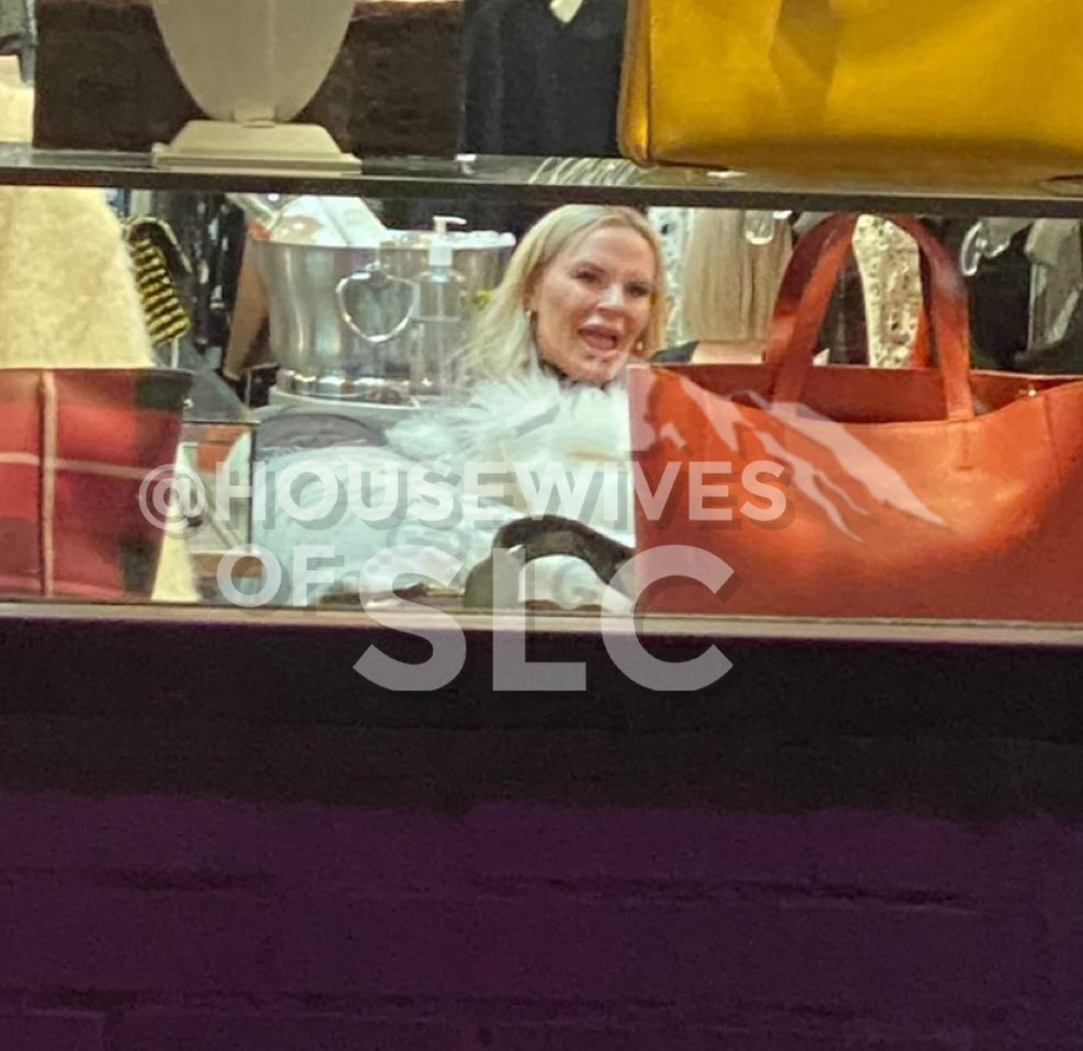 Heather & Whitney were SPOTTED filming for S2 at an upscale consignment store! 👀🎥❄️ #RHOSLC