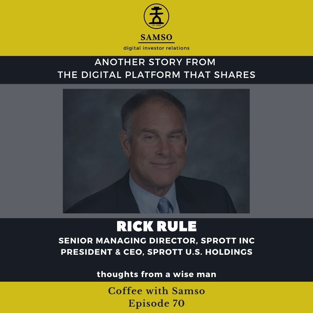 """The #coffeewithsamso with @RealRickRule has been rescheduled to this coming Tuesday. Looking forward to finally chatting to #rickrule and his """"Samso Sunglasses""""😀  #equities #gold #asx #asxinvestors #asxsmallcaps #copper #uranium #nickel #commodities https://t.co/GG7mYKVqVR"""