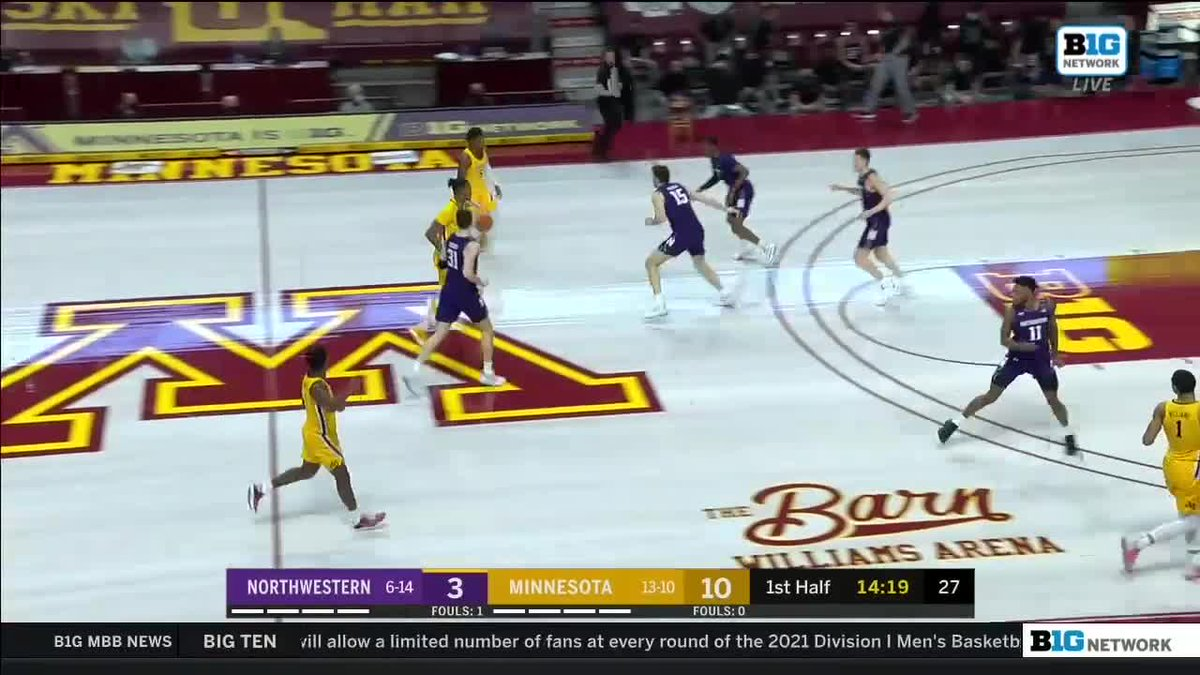 Replying to @MinnesotaOnBTN: Jamal Mashburn Jr. is cookin' early. 🔥  Fast start for the entire @GopherMBB team, too: