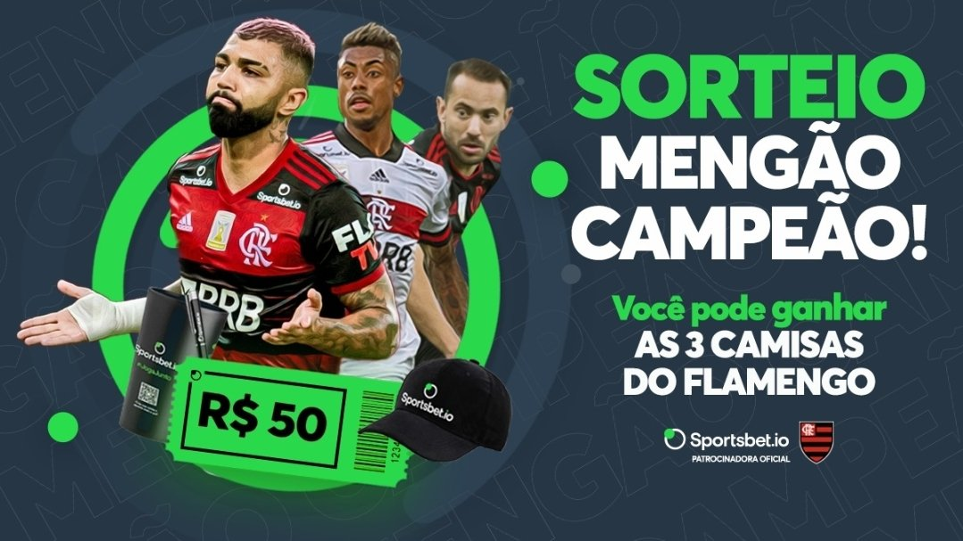 O #Campeao merece um #sorteio né? Quer ganhar as três camisas do Mengão? Então bora! Pra participar  ➡️ Dar RT ➡️ Seguir @sportsbetiobr   A gente divulgar o resultado no sábado galera!!!! #Flamengo