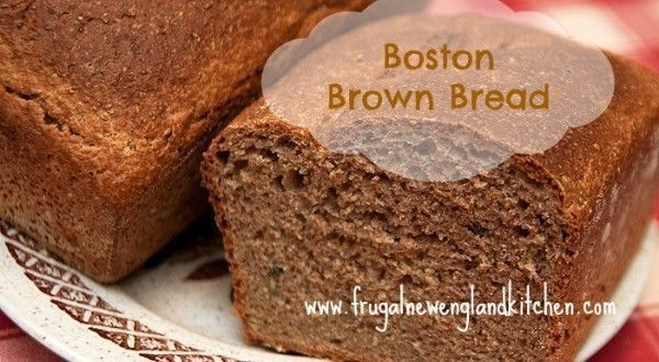 Boston Brown #Bread is a New England favorite Serve all fall + winter together with some homemade #soup!  #food #foodies #breadrecipe #brownbread #baking #Lunchtime #dinnertime #comfortfood #Lent #StPatricksDay #recipe #RecipeOfTheDay