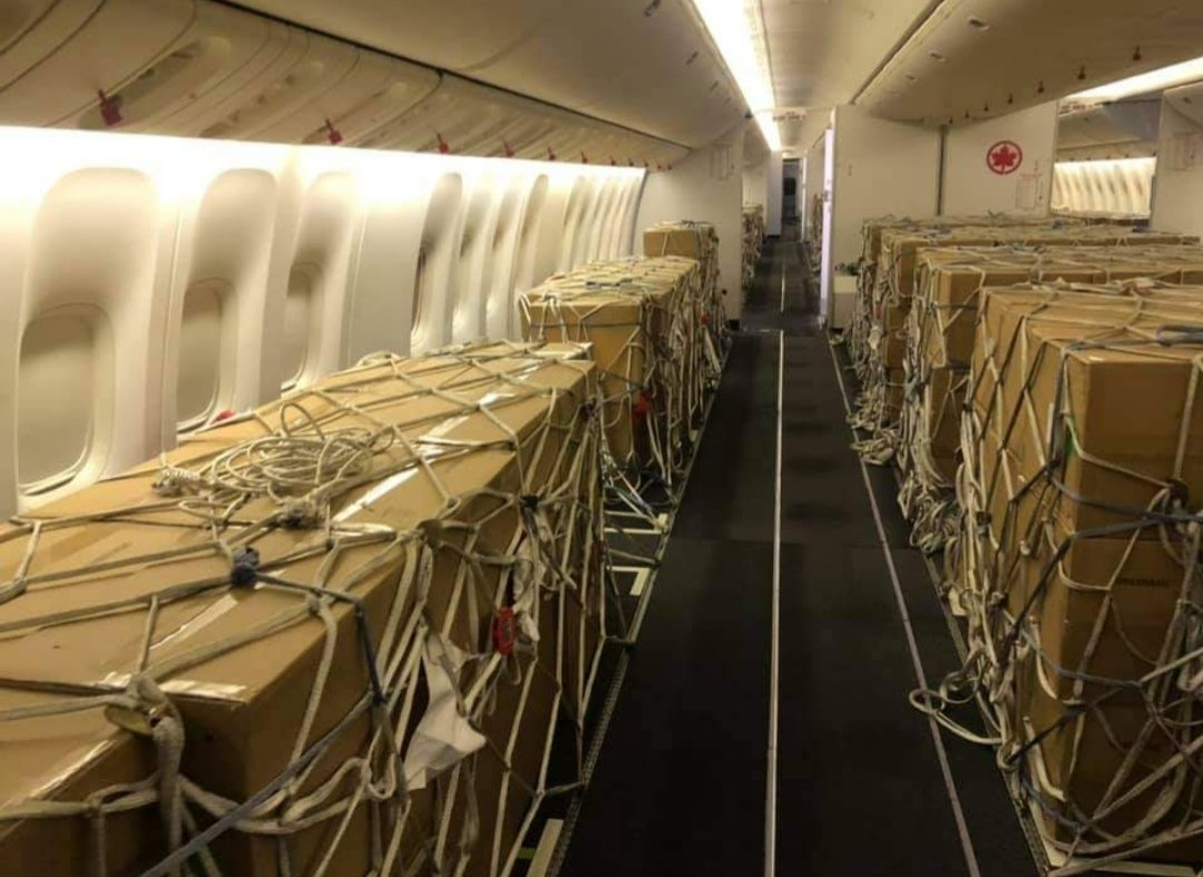 Another plane load of syringes has arrived in Canada. Weve got the needles ... we just need the juice to put in them and the poeple to administer the doses