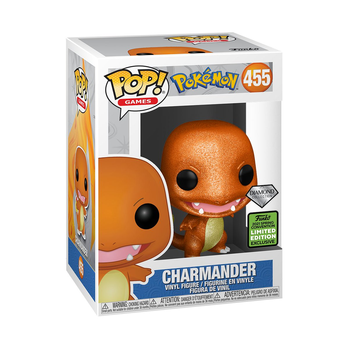 RT & follow @OriginalFunko for the chance to WIN this Spring Convention Diamond Collection Charmander Pop! #Funko #FunkoGiveaway #Giveaway #Pokemon