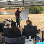 Farmers learning about managing biodiversity on farm using traditional knowledge with Zac Webb from Undalup Association