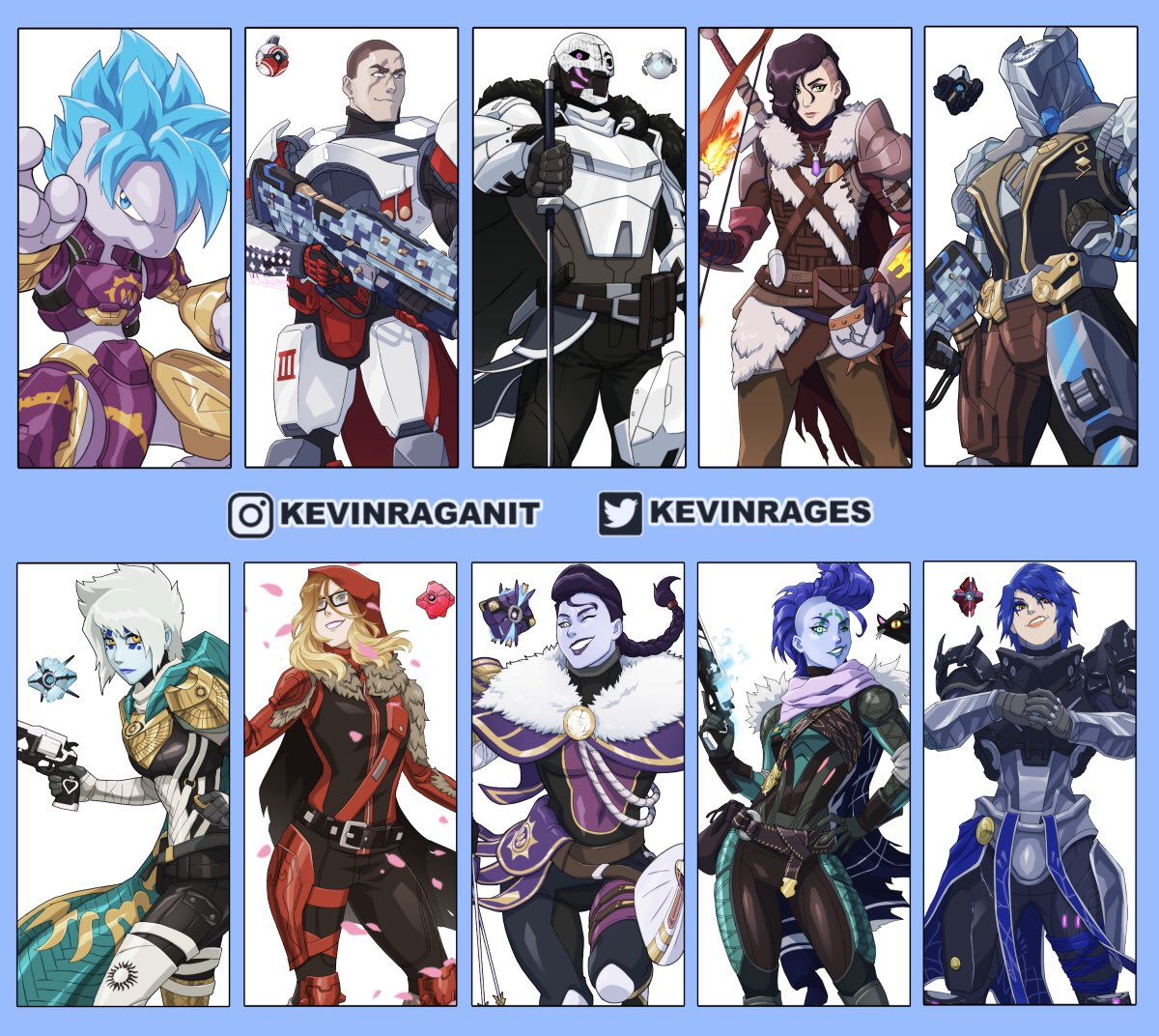 Replying to @KevinRAGES: February Commissions overview 🔥