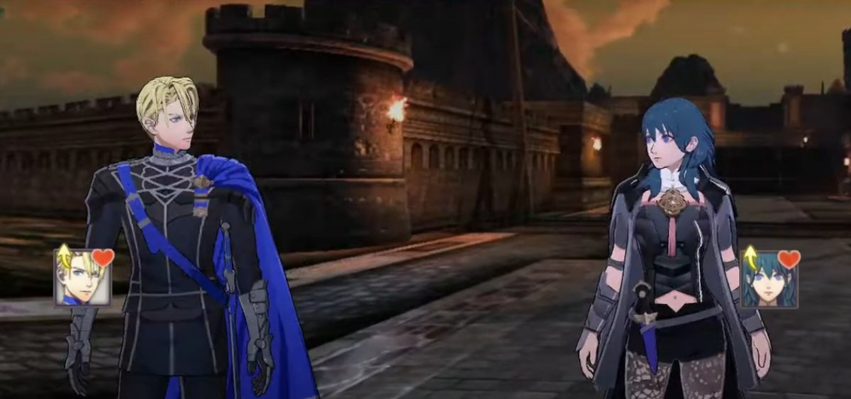 Dimitri: I hear their voices Byleth: I hear a voice in my head too