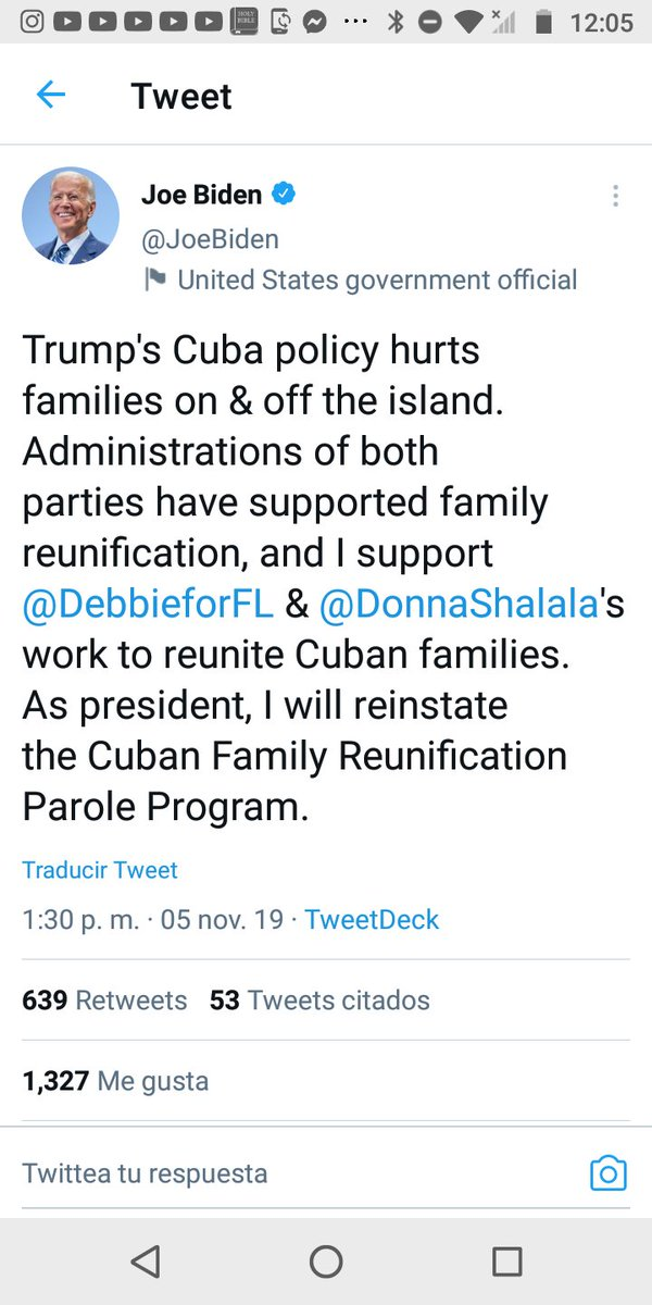 Mr. President God bless you, you will be kept in the hearts of all Cubans, help us to reunite with our loved ones, reestablish consular services in Havana. relieve the tears accumulated by thousands of families. #CFRP #DV2021  #DV2020  @JoeBiden  #HR4884 #AbranLaEmbajada