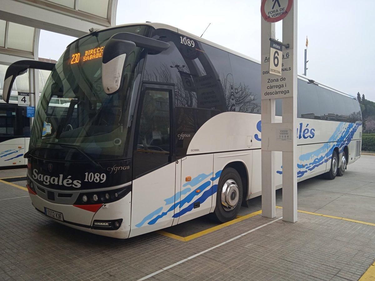 230 #CaldesdeMontbui -> #Sabadell  @sagalesbus #Beulas #Cygnus