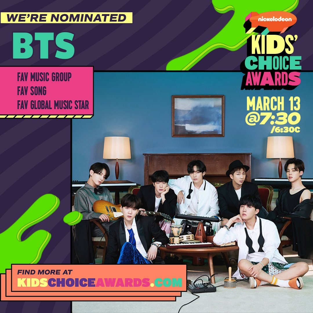 We are so excited to be nominated for #Nickelodeon The 2021 Kids' Choice Awards! Thank you so much for your love and support!