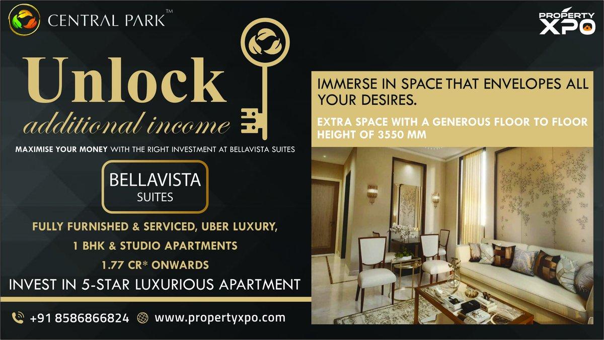 Central Park Bella vista - Luxurious Studio Apts   Book Now:   Call: 8586866824  & Follow: @Property_Xpo   #realestateinvesting #gurgaon #propertyforsale #Residential #homesforsale #life #Trending #TrendingNow #apartments #TrendingNow #NewsZERO #home #news