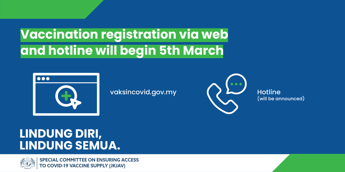 Vaksin Covid 19 On Twitter We Now Have Additional Ways For You To Register For Covid 19 Vaccination Https T Co Kgvgetutk9 From 5th March 2021 You Can Register At Https T Co C6jucnp1sl Or Via The Covid 19 Vaccine