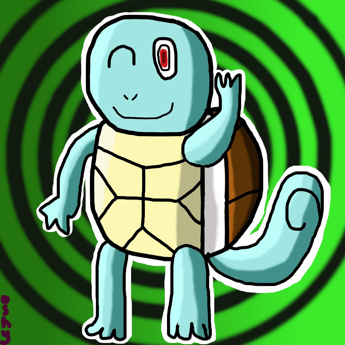 After Seeing The drawing Of Squirtle by @DannyCortoons , I Drew Squirtle a Second Time and A Major Improvement on Drawing Squirtle  #Squirtle #Pokemon25 #Pokemon #drawing