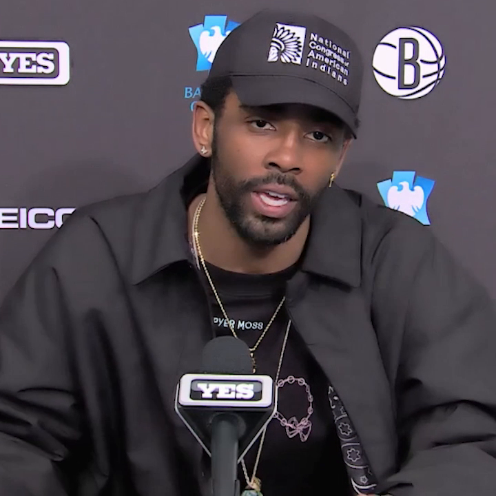 """""""It needs to happen. I don't care what anyone says. Black kings built the league.""""  Kyrie Irving on why he wants the NBA logo to be changed to Kobe Bryant:"""