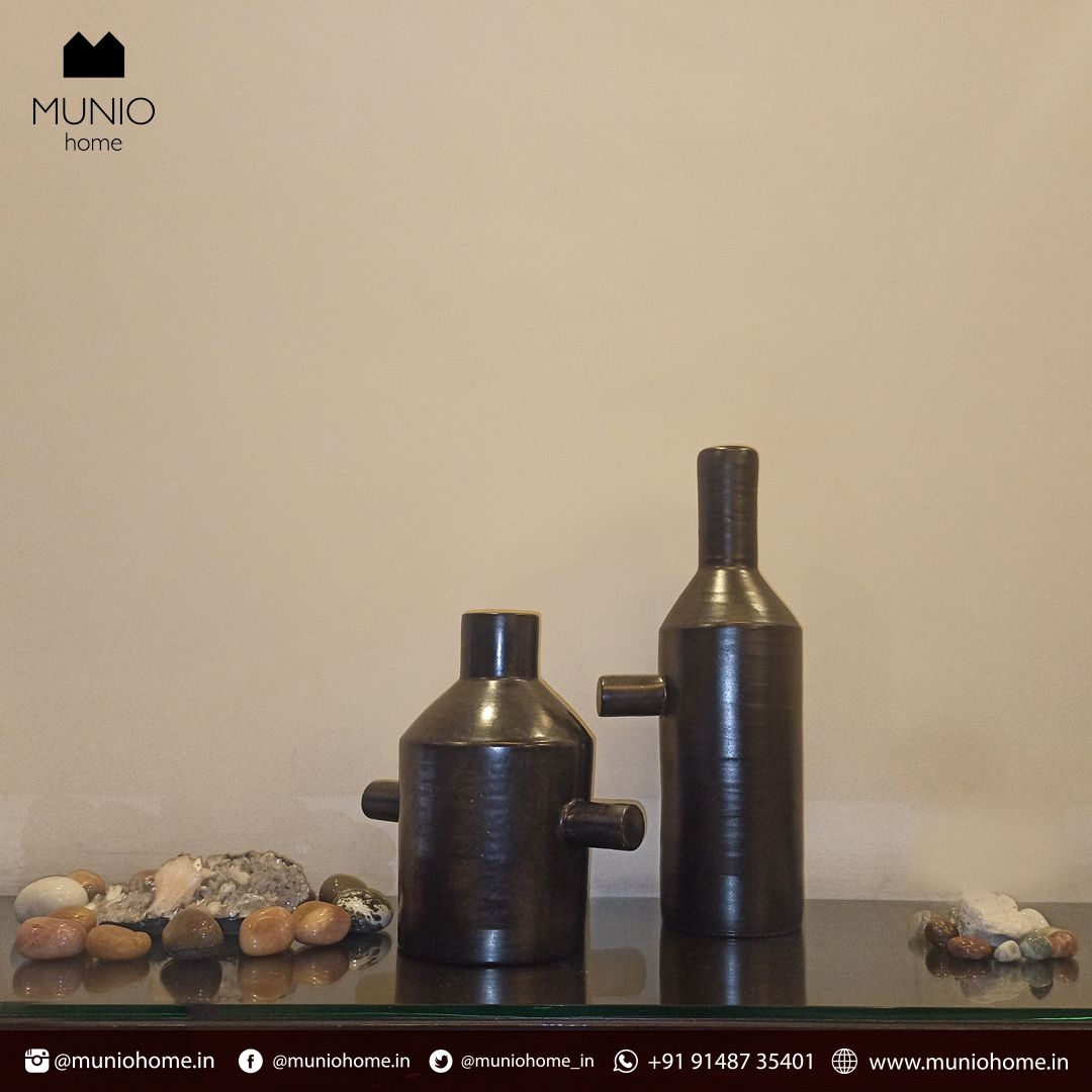 At MUNIO home, we endeavor to bring you traditional inspired homewares blended with modern contemporary design. These bottles can be used for different drinks, or use them as the vases. Shop now-  . . #FridayFeeling #HomeDecor #home #handcrafted #handmade