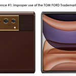OPPO Accused by US based company of intellectual property infringement.  Reasons: - Improper, misleading use of the TOM FORD trademark - Improper use of Apple Inc. stock wallpaper  Source: @letsgodigitalNL  #Oppo #TomFord #Apple #iPhone