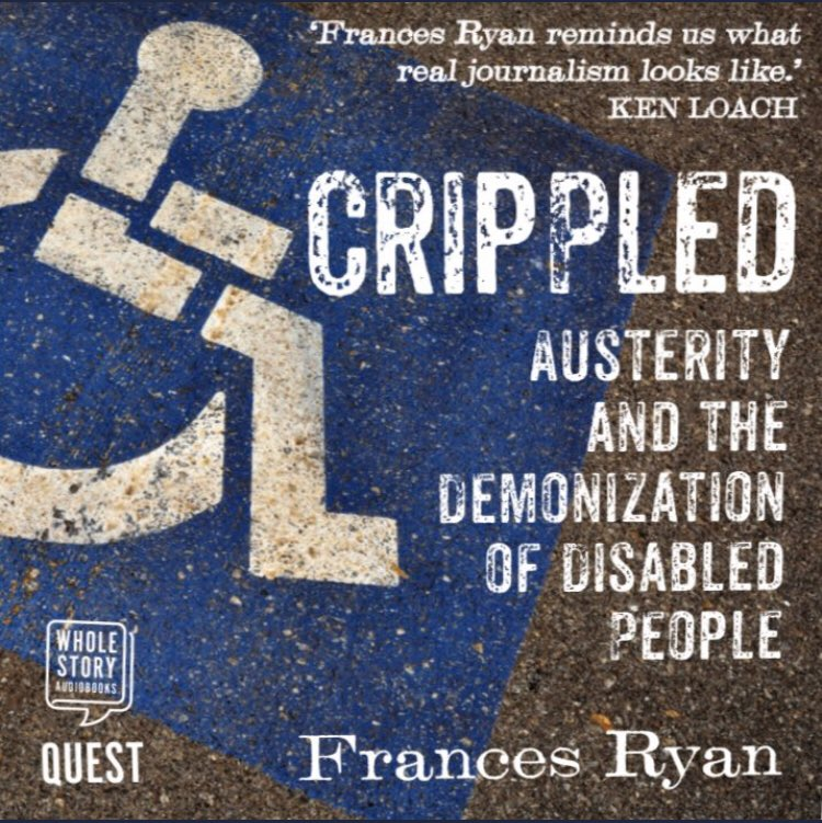 """It's been exactly a year since CRIPPLED came out on audiobook, read by the fab @TheGMorrell. The Financial Times called it """"fundamentally necessary listening"""" and it's received an average 5 ⭐️ from listeners. Also, my mum bought it. You can get it here: amazon.co.uk/gp/aw/d/B084P4…"""
