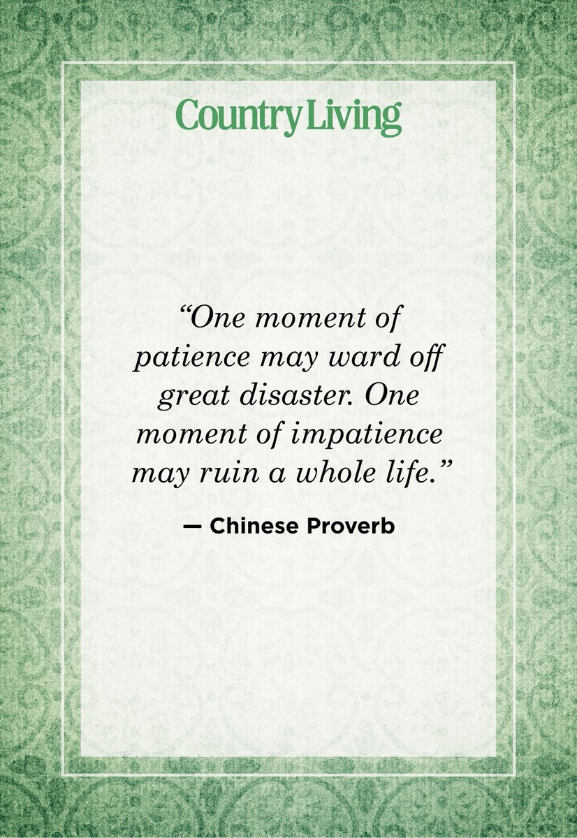 """""""One moment of patience may ward off great disaster. One moment of impatience may ruin a whole life."""" — Chinese Proverb  #WritingCommunity #writingcommunity #quotes #quoteoftheday   Please #Like & #Retweet ⬇️😀⬇️"""