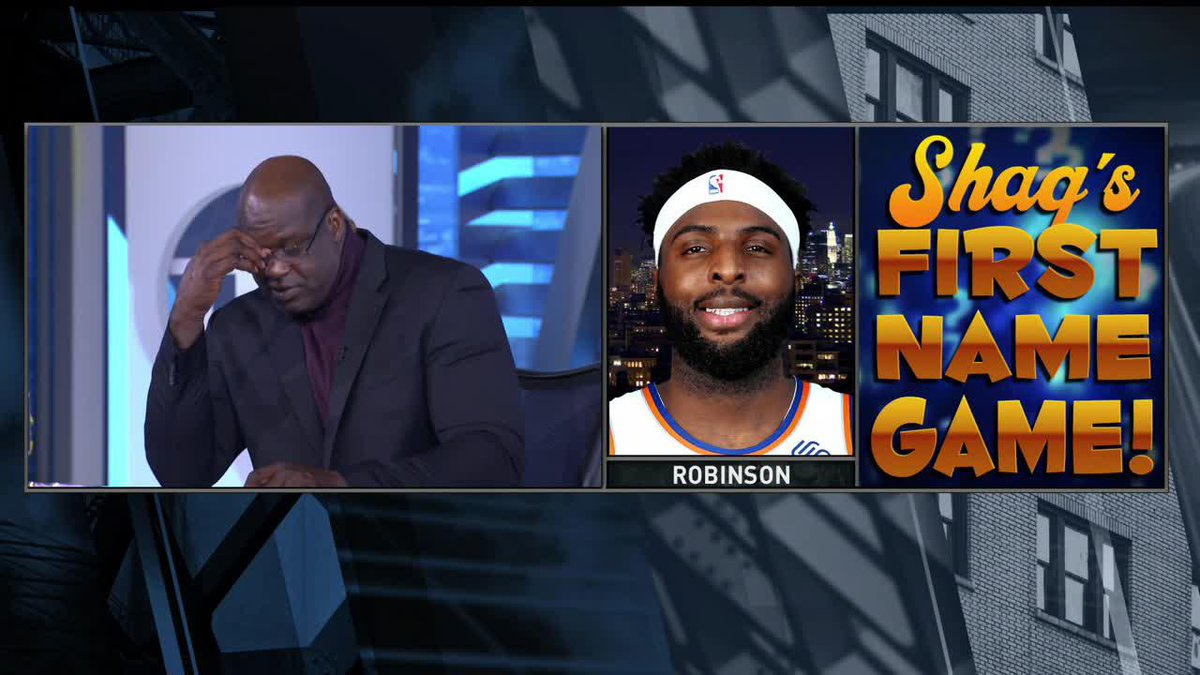 """""""Do I get a lifeline?"""" 😭  """"Shaq's First Name Game"""" went as expected. https://t.co/qMygFgNHax"""