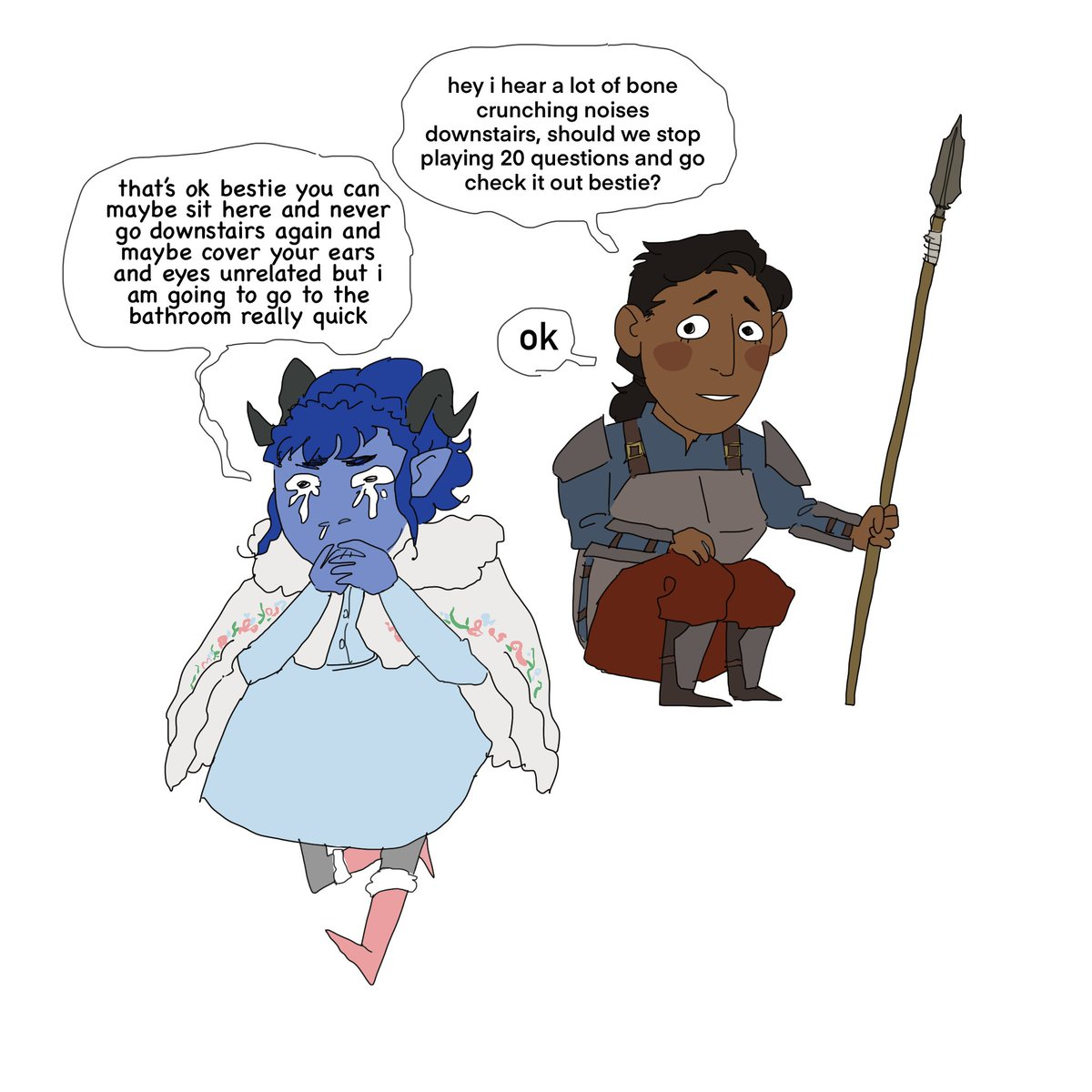 Replying to @Lemonbrows: wow i cant believe nothing bad happened while cymie was upstairs #CriticalRole #CriticalRoleFanart