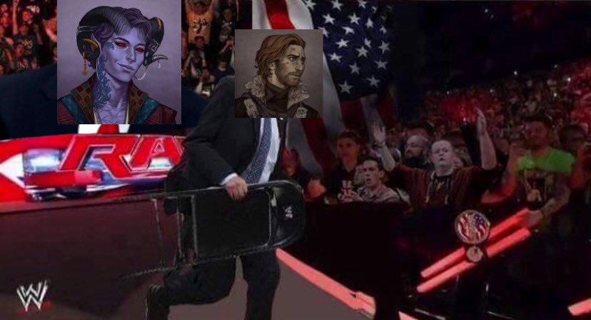 """""""we are live here in the eiselcross arc and— wait, what is this? BY GOD IT'S CALEB'S ARC WITH A STEEL CHAIR""""  #criticalrole #criticalrolespoilers"""