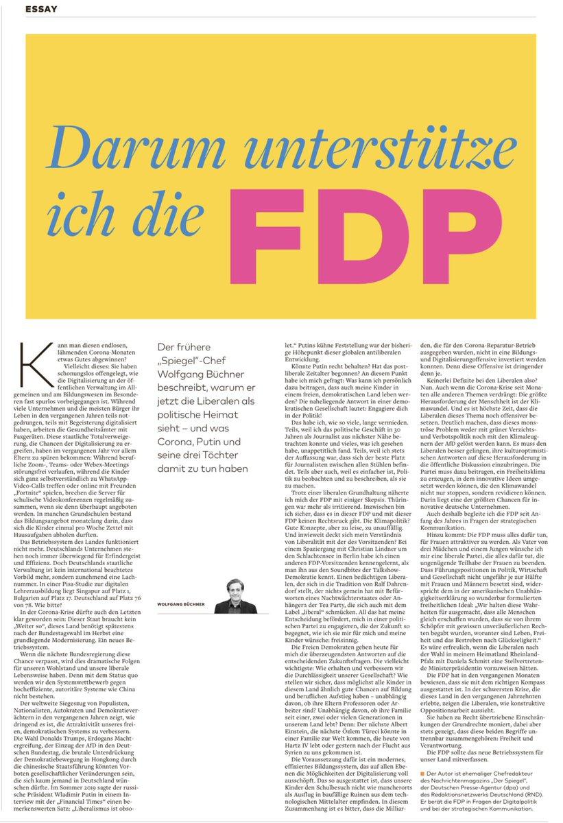 Herzlich willkommen, lieber @wbuechner! Neue Mitglieder helfen uns, die @fdp noch besser zu machen. In diesen Zeiten lohnt sich der Einsatz für #Freiheit mehr denn je. CL