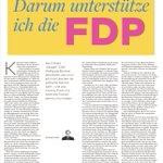 Image for the Tweet beginning: Warum ich die @fdp unterstütze: