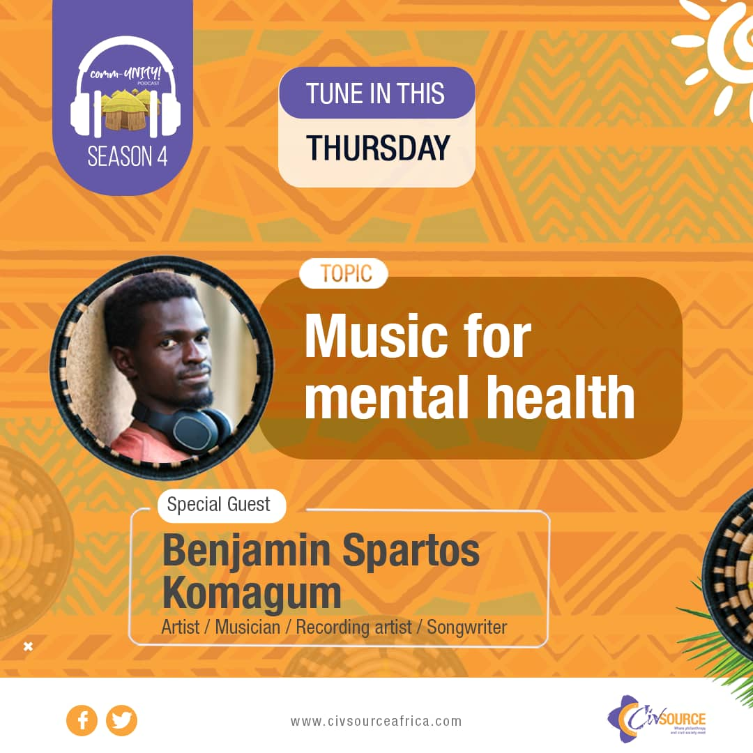 Always honoured to talk about #mentalhealth issues & #musictherapy. Thanks to Elizabeth & @civsourceafrica for making this happen. Here's an interesting podcast for you to listen to.  https://t.co/qdHqoFff0E  #musicformentalhealth #mentalhealth #musicheals https://t.co/xPakHQ29jx
