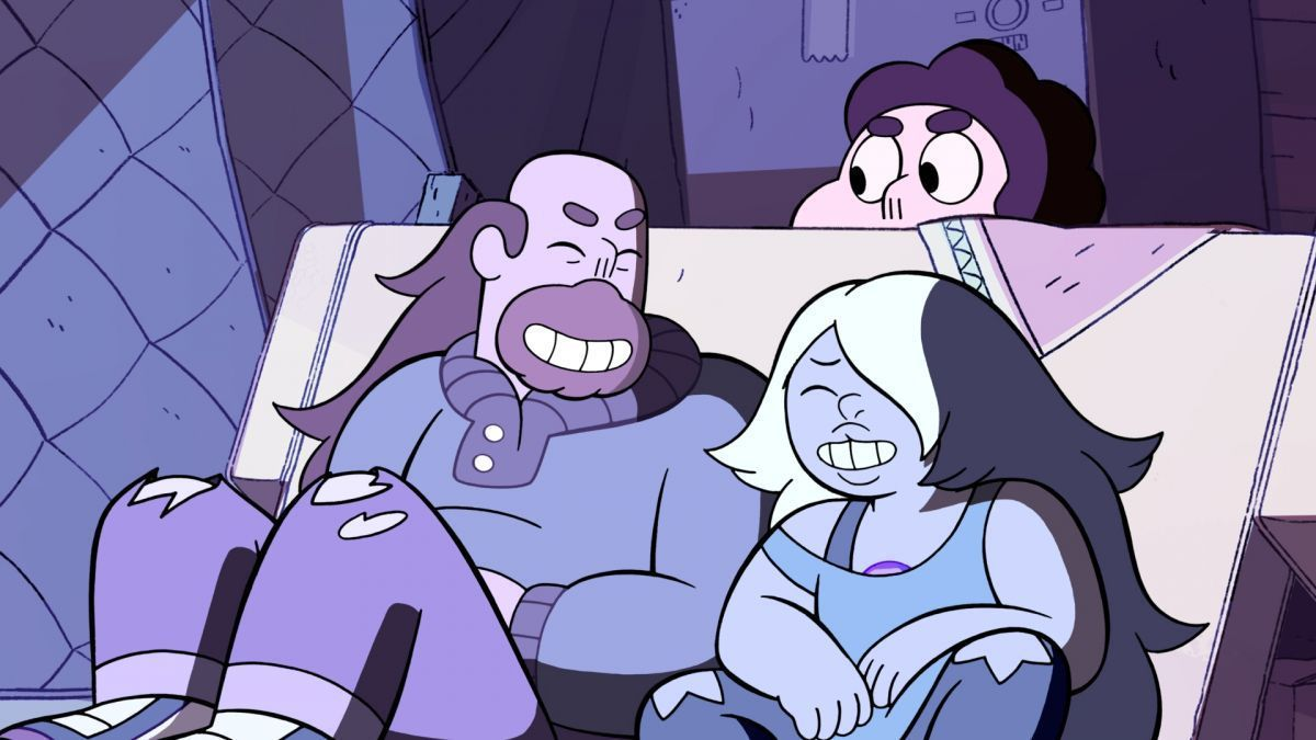 "While cleaning out Greg's storage unit, Greg & Amethyst reunite over not cleaning the unit, but over an old VHS tape they found from one of the boxes that contain an old sitcom they used to watch in ""Maximum Capacity"", aired 6 Years Ago. #StevenUniverse #DayInFandomHistory"