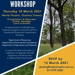 A workshop in Charters Towers will provide an opportunity for landholders to meet with Queensland Government staff to discuss vegetation management and reef regulation requirements. NQ Dry Tropics works to promote better understanding between landholders & government.