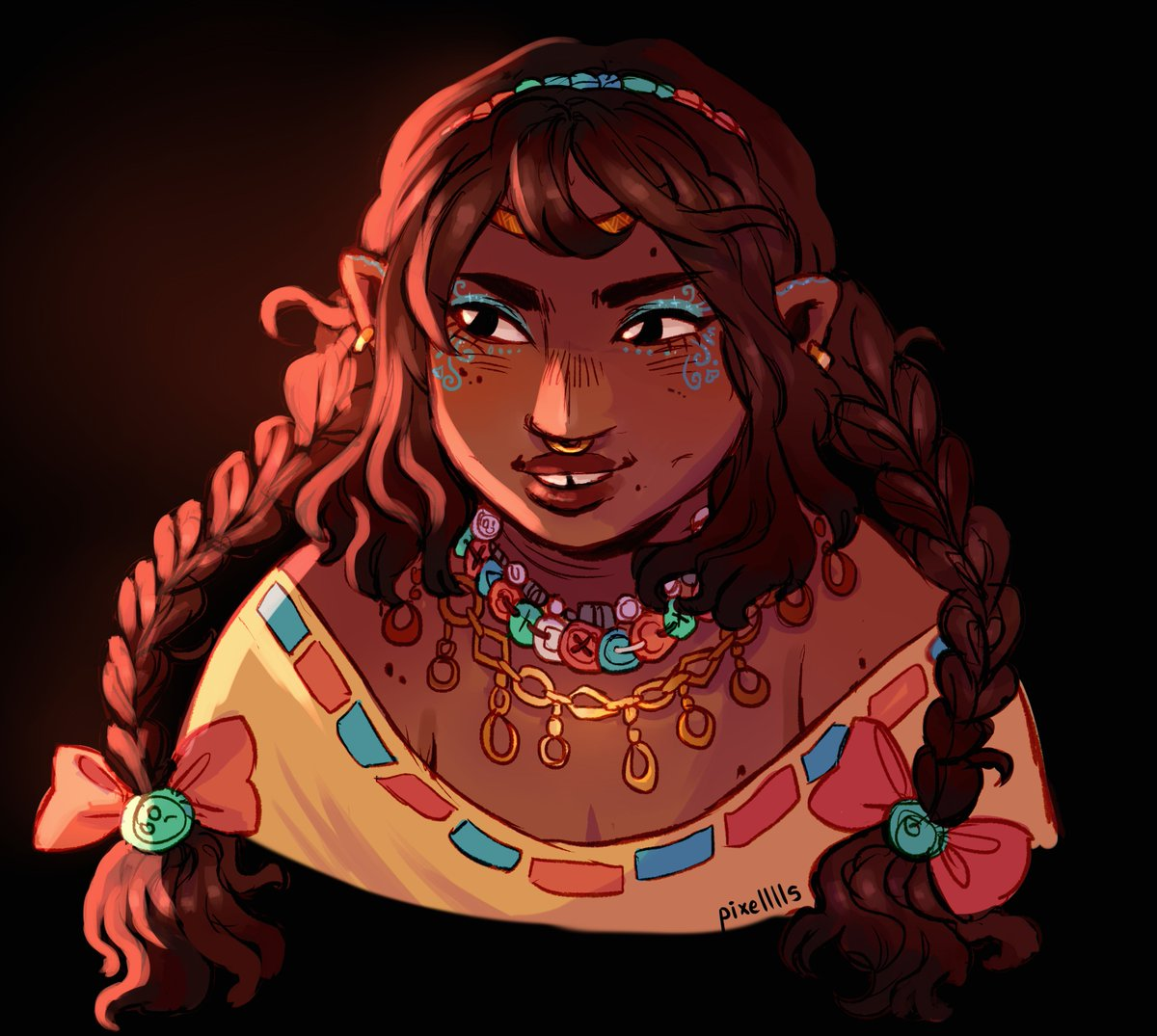 Replying to @pixelllls: doodled a veth because I don't draw her enough!
