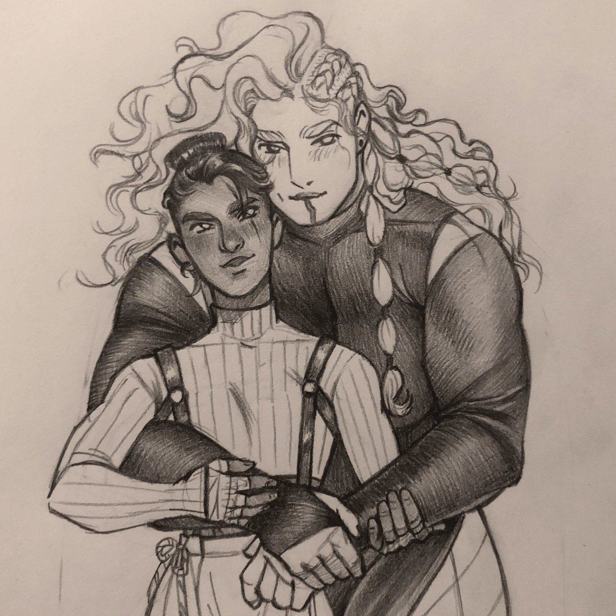 Replying to @Mister_QT: Wow tonight's ep was brutal buut anyways here are the gays #beauyasha #criticalrolefanart
