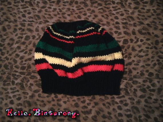 Rasta Beret, rasta hat,  via @EtsySocial #EtsySocial #rt #homedecor #knitting #beret