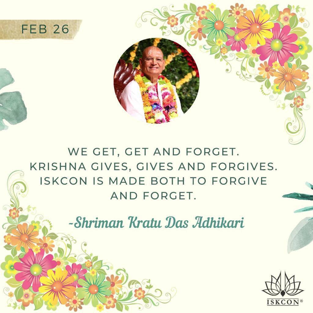 #Shriman #Kratu #Das #Adhikari #quote #of #the #day #Iskcon #aligarh. #APNA #SAHAYOGI #PREMI #PARIVAR. #अपना #सहयोगी #प्रेमी #परिवार |