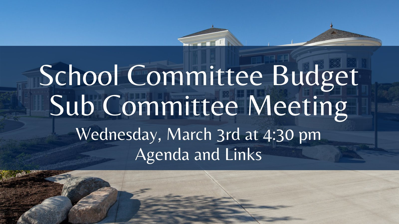 Franklin Public Schools, MA:  Budget Sub Committee  - Mar 3