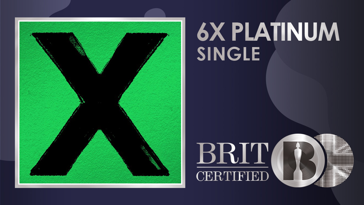 💖 Taken from his second album 'x', @edsheeran's 'Thinking Out Loud' is now #BRITcertified 6x Platinum! 💿💿💿💿💿💿