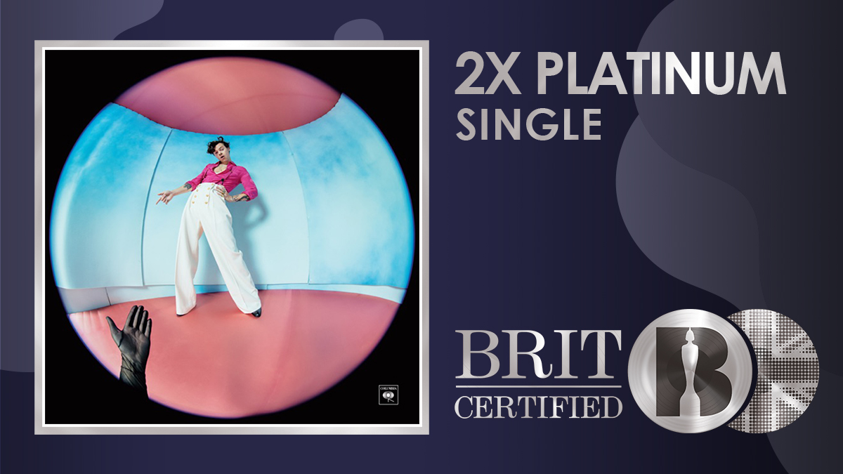 🍉 @Harry_Styles' huge single 'Watermelon Sugar' is now #BRITcertified 2x Platinum! 💿💿