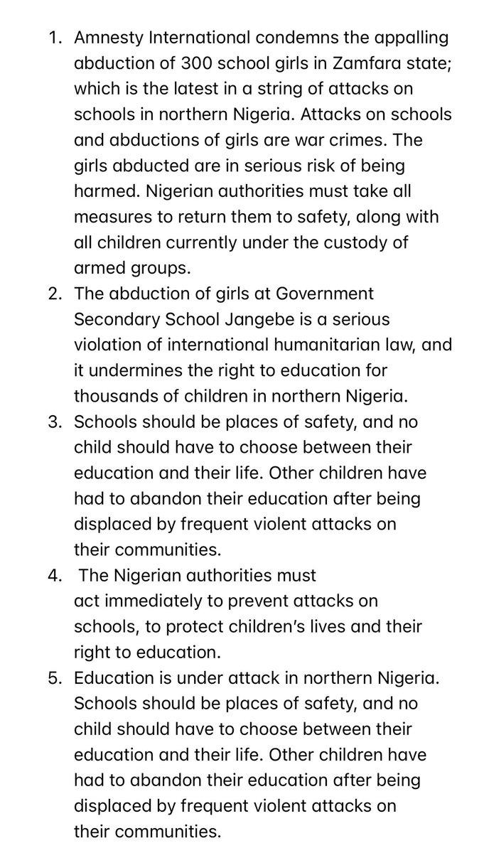 On the abduction of hundreds of school girls in #Zamfara state, #Nigeria