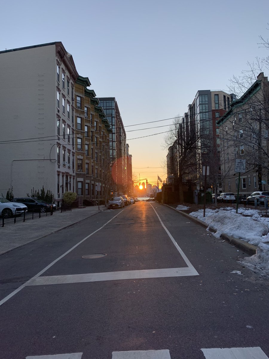 Home!! I love you #hoboken! #hobokennj #FridayVibes #FridayMotivation #fridaymorning #hobokensunrise