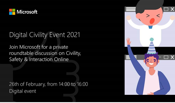 #BIKyouth Ambassadors are excited to join the @Microsoft Digital Civility Event 2021, taking place now!    | #SaferInternetDay