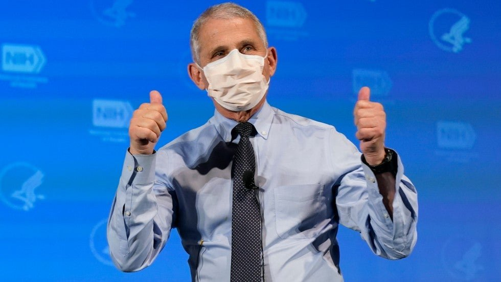 """Replying to @thehill: Fauci: Whatever COVID vaccine is available, """"take it"""""""