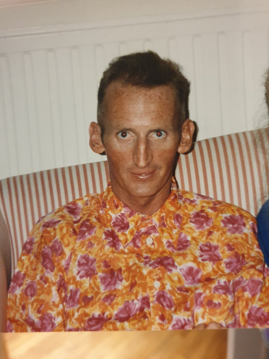 Listening to @theJeremyVine on @BBCRadio2 talking about #ItsASin. Remembering my brother John who was a victim of #AIDS in 1991. He died shortly after his birthday when this was taken.