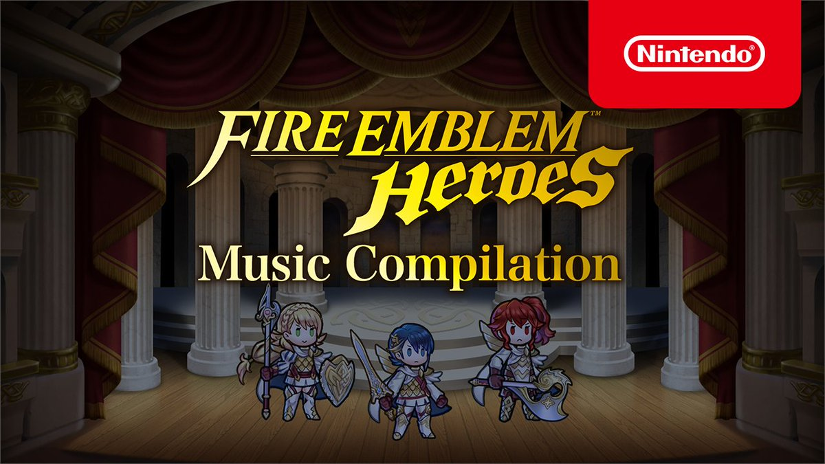 We released the Fire Emblem Heroes Music Compilation, a video featuring music from the Fire Emblem series! There's 105 minutes of music across 43 songs from Fire Emblem: Mystery of the Emblem to #FEHeroes!  Which song is your favorite? #FEHmusic