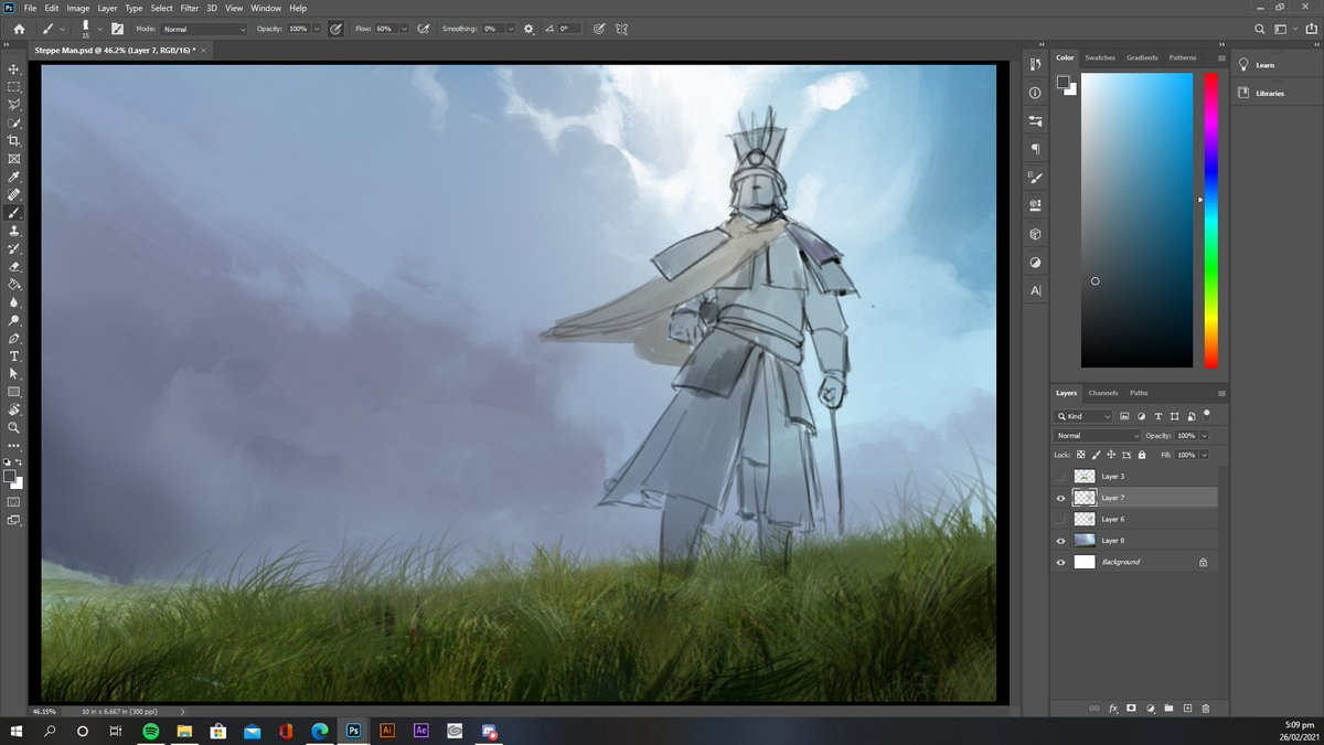 Finally doing me some personal art  #art #ArtistOnTwitter #medieval #fantasy #grass