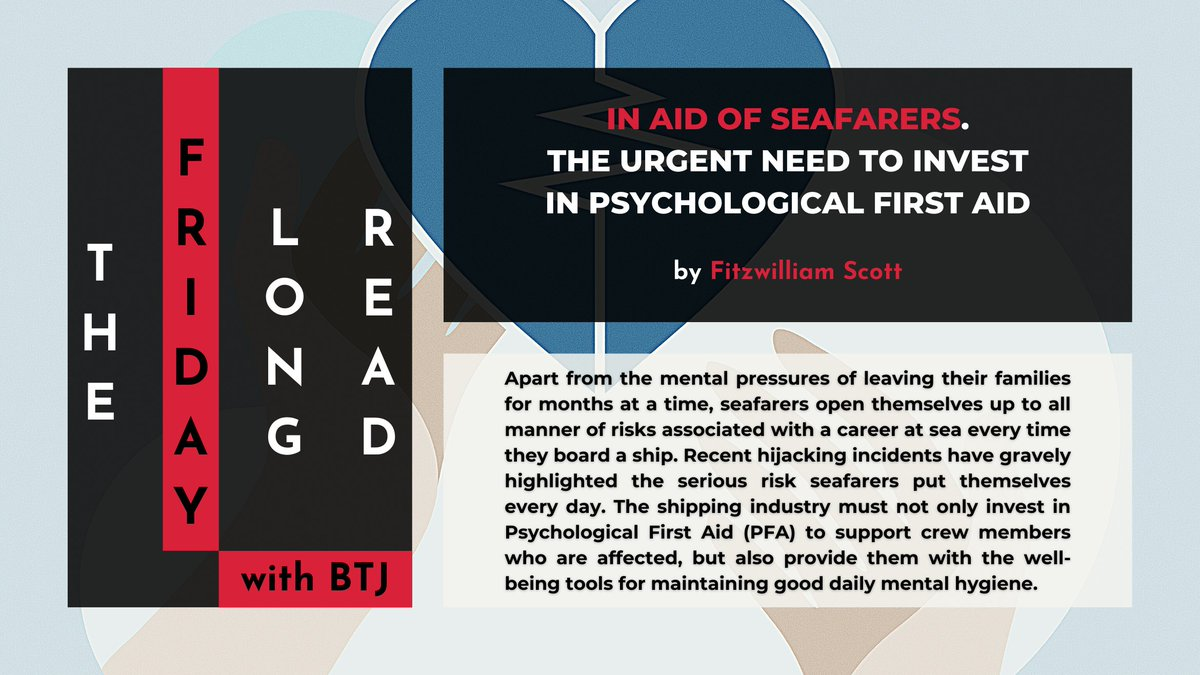 THE FRIDAY LONG READ 📚☕🤓  ➡️ In aid of seafarers. The urgent need to invest in Psychological First Aid  ➡️ PDF ➡️   Have a great read! 📖🤓  #MentalHealthSupportSolutions #seafarer #seafarersmatter #mentalhealth #psychologicalhealth